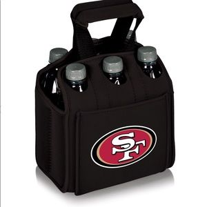 San Francisco 49ers 6 Pack insulated Beverage Tote